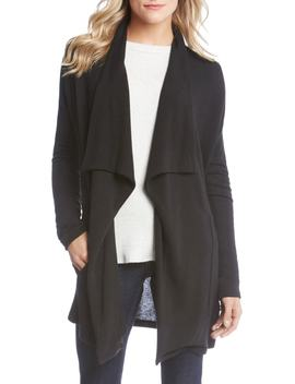 Drape Front Pocket Sweater by Karen Kane