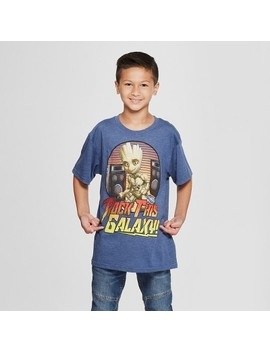 Boys' Marvel Rock This Galaxy Short Sleeve Graphic T Shirt   Navy by Shop All Marvel