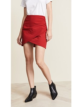 Fidela Draped Miniskirt by Alice + Olivia