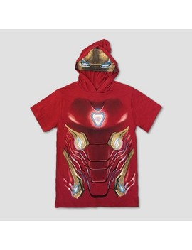 Boys' Iron Man Short Sleeve Hooded T Shirt   Red by Shop All Marvel