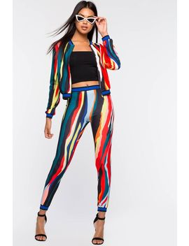 Two Piece Abstract Pant Set by A'gaci