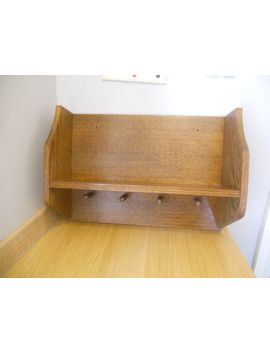 Wooden Shelves. Wall Storage Unit, Kitchen, Boat Galley, Cup Rack, Book Case by Ebay Seller