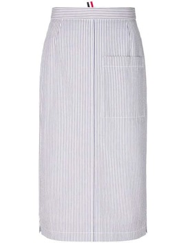 Striped Straight Skirt by Thom Browne