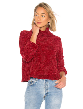 Chenille Turtleneck Sweater by Blanknyc