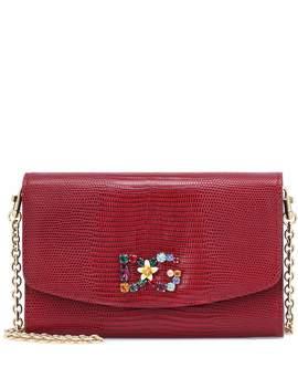 Verzierte Clutch Aus Kalbsleder by Dolce & Gabbana