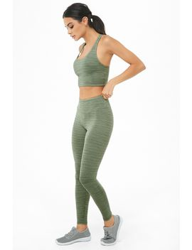 Active Broken Striped Leggings by Forever 21