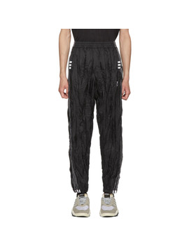 Black Adi Break Lounge Pants by Adidas Originals By Alexander Wang