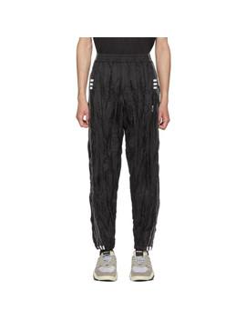 Black Adi Break Lounge Pants by Adidas Originals By Alexander Wang