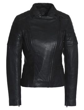 Quilted Leather Biker Jacket by Muubaa