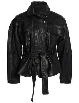Belted Leather Jacket by Marissa Webb