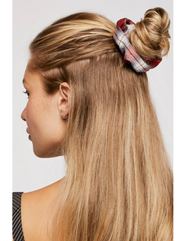 Oversize Plaid Scrunchie by Free People