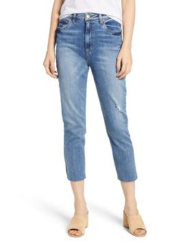 Alicia High Rise Crop Raw Edge Jeans by Sts Blue