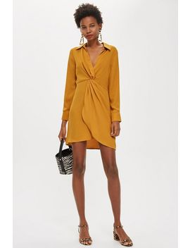 Twist Front Mini Dress by Topshop