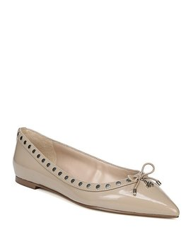 Ralf Patent Leather Bow Flats by Generic