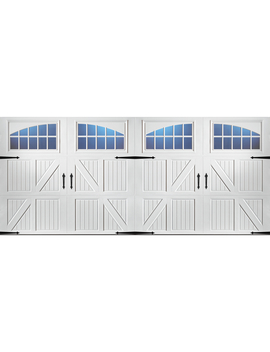 Pella Carriage House 192 In X 84 In White Double Garage Door With Windows by Lowe's