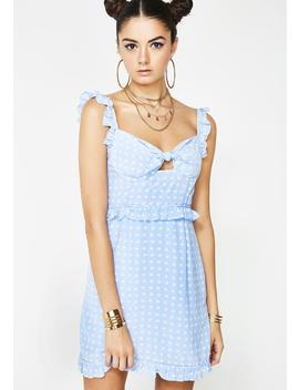 Sky Sweetheart Mini Dress by For Love  Lemons