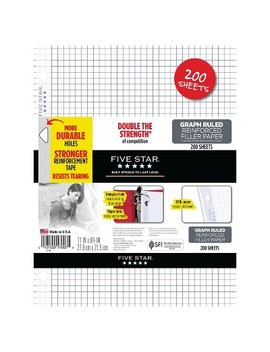 200ct Graph Ruled Filler Paper Reinforced   Five Star by Shop All Five Star