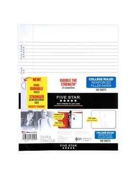 Five Star® Filler Paper College Ruled Reinforced 200ct by Shop All Five Star