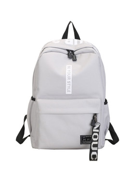 Letter Detail Strap Front Backpack by Sheinside