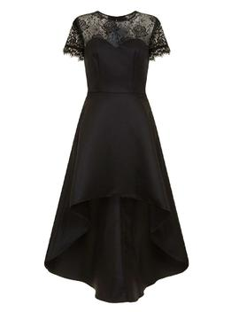 *Chi Chi London Black Lace Dip Hem Dress by Dorothy Perkins