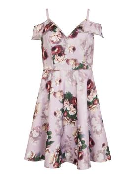 *Chi Chi London Pink Cold Shoulder Midi Dress by Dorothy Perkins