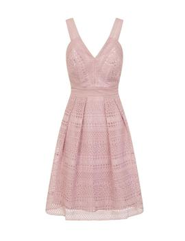*Chi Chi London Petite Mink Crochet Skater Dress by Dorothy Perkins