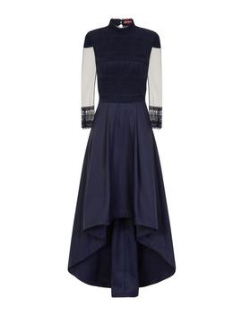 *Chi Chi London Navy Crochet Dip Hem Maxi Dress by Dorothy Perkins