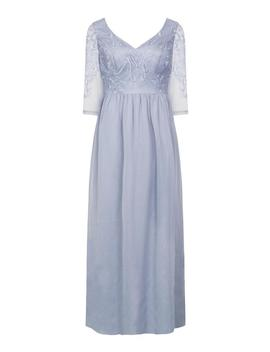 *Chi Chi London Blue Embroidered Maxi Dress by Dorothy Perkins