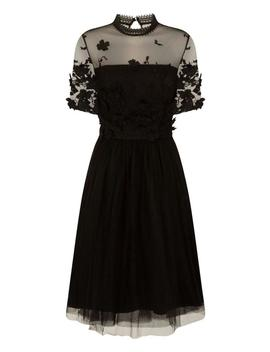 *chi-chi-london-black-crochet-midi-dress by dorothy-perkins