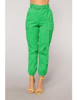 Cargo Chic Pants   Green by Fashion Nova