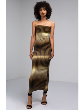 Tigers Eye Strapless Maxi Dress by Akira