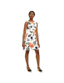 Phase Eight   Cream Juana Print Dress by Phase Eight