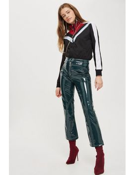 Vinyl Kick Flare Trousers by Topshop