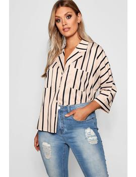 Plus Stripe Oversized Shirt by Boohoo