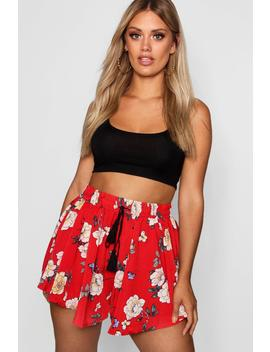 Plus Floral Flippy Shorts by Boohoo