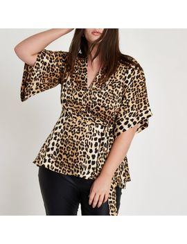 Plus Leopard Print Kimono by River Island
