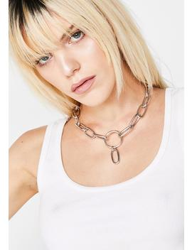 Iron Heart Chain Choker by Fame Accessories