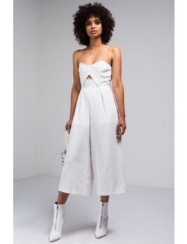 In The Mix Strapless Culotte Jumper by Akira