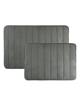 Non Slip And Fast Dry 2 Piece Memory Foam Bath Mats by Windsor Home