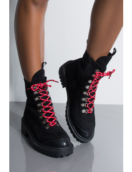 Azalea Wang Why Are You Staring Flat Hiker Boot by Akira