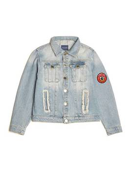 Denim Jacket AppliquÉ On The Back by Guess