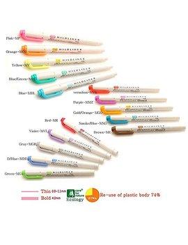 Zebra Mildliner Marker, Doppelseitig Textmarker Tief, Warm Und Kühl, 3Pack by Amazon