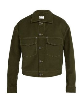 Topstitched Stretch Cotton Jacket by Acne Studios