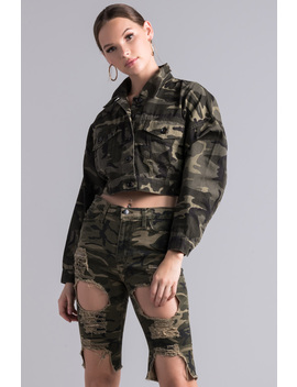 Feeling You Never Did Camo Jacket by Akira
