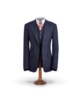 Pinstripe Tweed Suit Jacket by Ralph Lauren