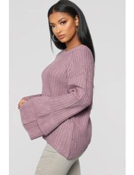 Make Time Sweater   Lavender by Fashion Nova