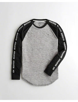Logo Tape Colorblock T Shirt by Hollister