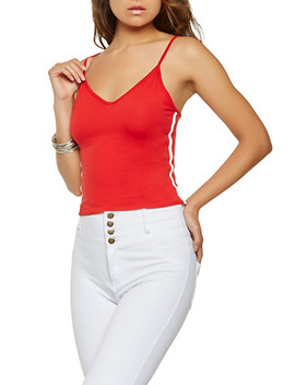 Contrast Trim Cropped Cami by Rainbow
