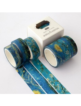 3 Pcs/Pack  Magic Sakura Cloud Van Gogh Washi Tape Adhesive Tape Diy Scrapbooking Sticker Label Masking Tape by House Of Novelty