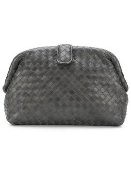 Woven Effect Clutch by Bottega Veneta